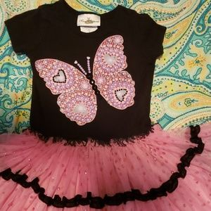 Sparkle and shine adorable butterfly dres